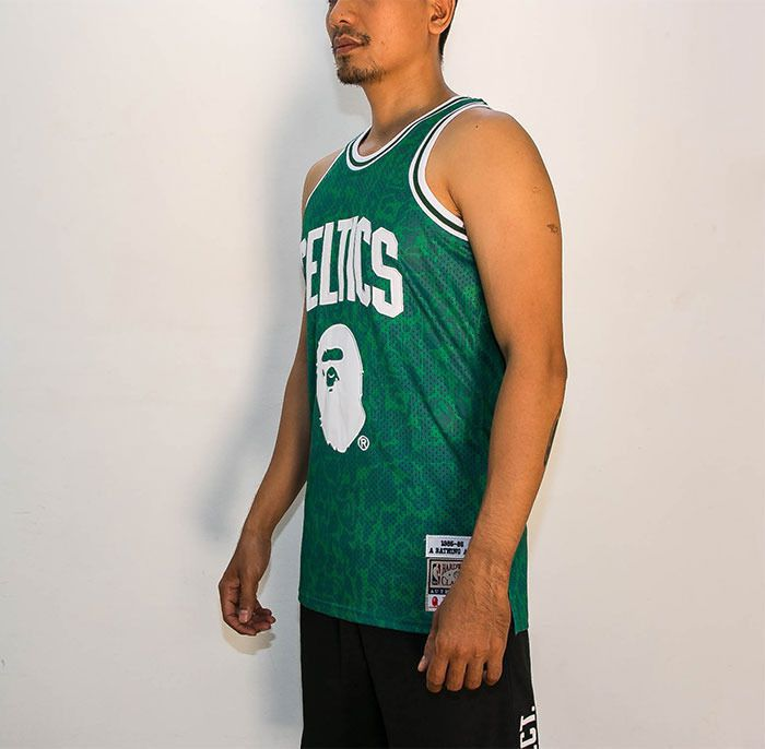 quality design 20e3c 2e358 Mitchell & Ness NBA x Bape Celtic Jersey